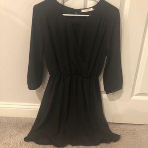 Beautiful black silky dress